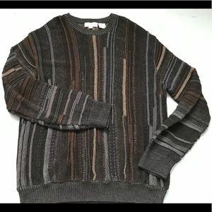 Vintage Coogi inspired grey brown sweater